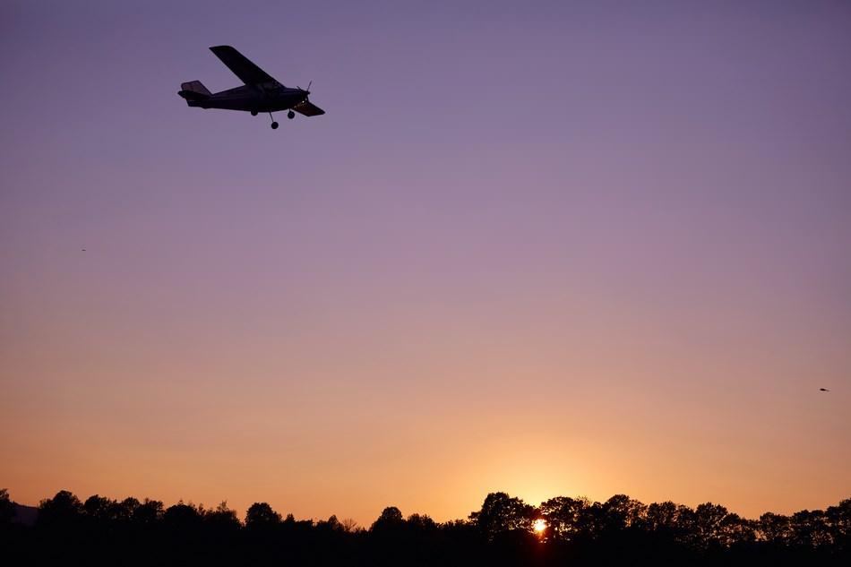 samolot leci na niebie
