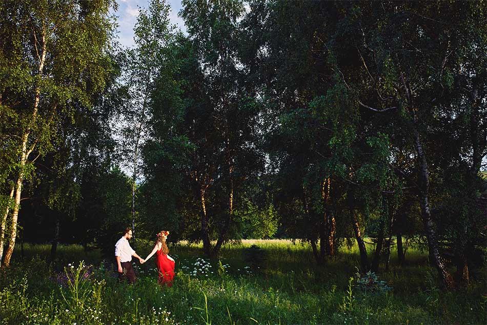 sesja narzeczenska rzeszow spacer przez brzozowy gaj