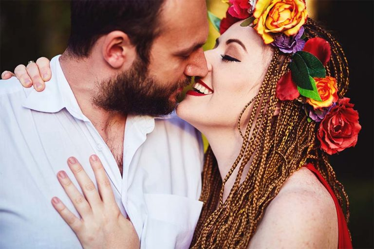 sesja narzeczenska milosc i pocalunek
