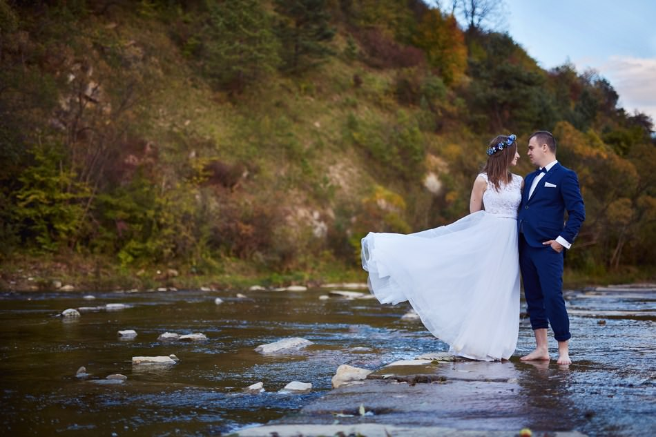 sesja slubna w sanoku nad rzeka san fotograf rzeszow
