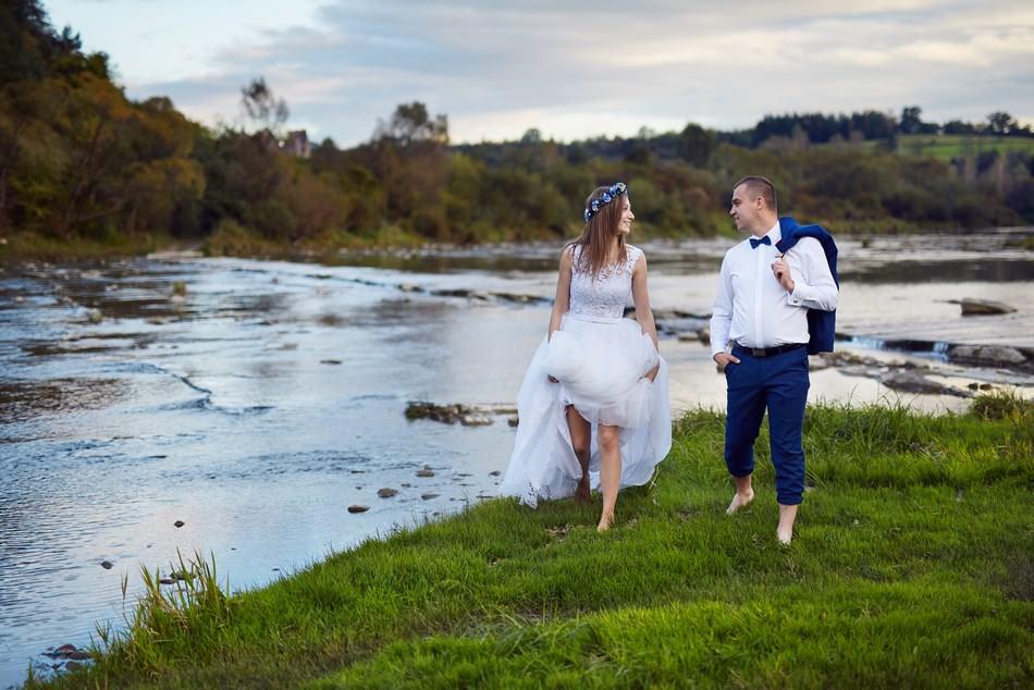 sesja slubna w sanoku nad rzeka san fotograf krosno