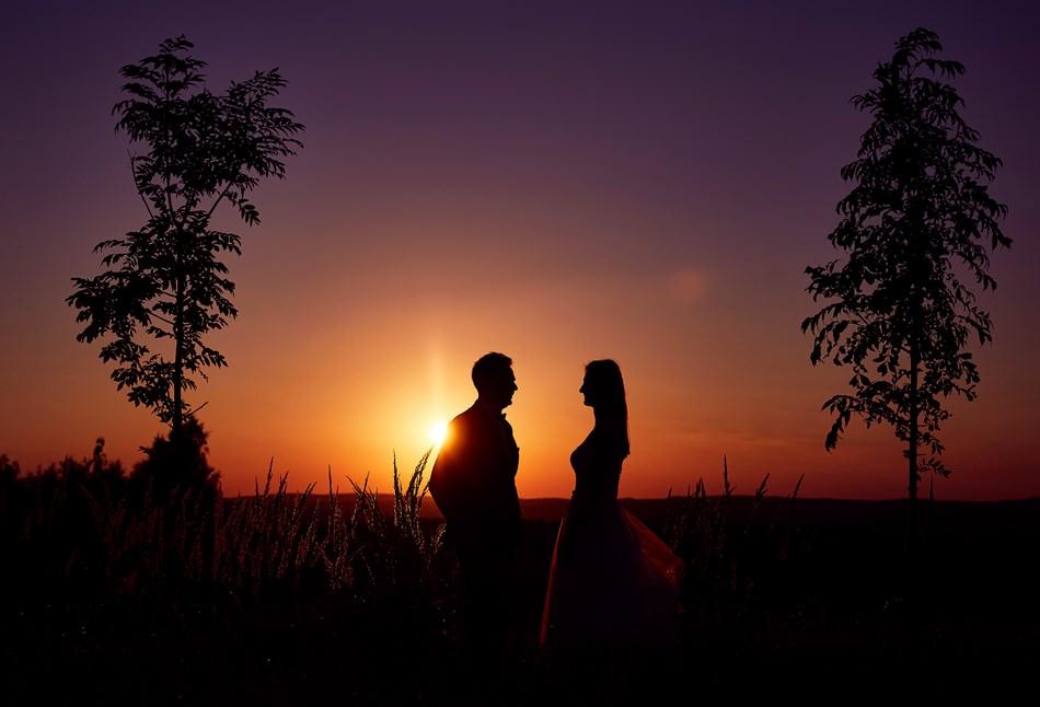 zachód słońca fotografia ślubna Sanok