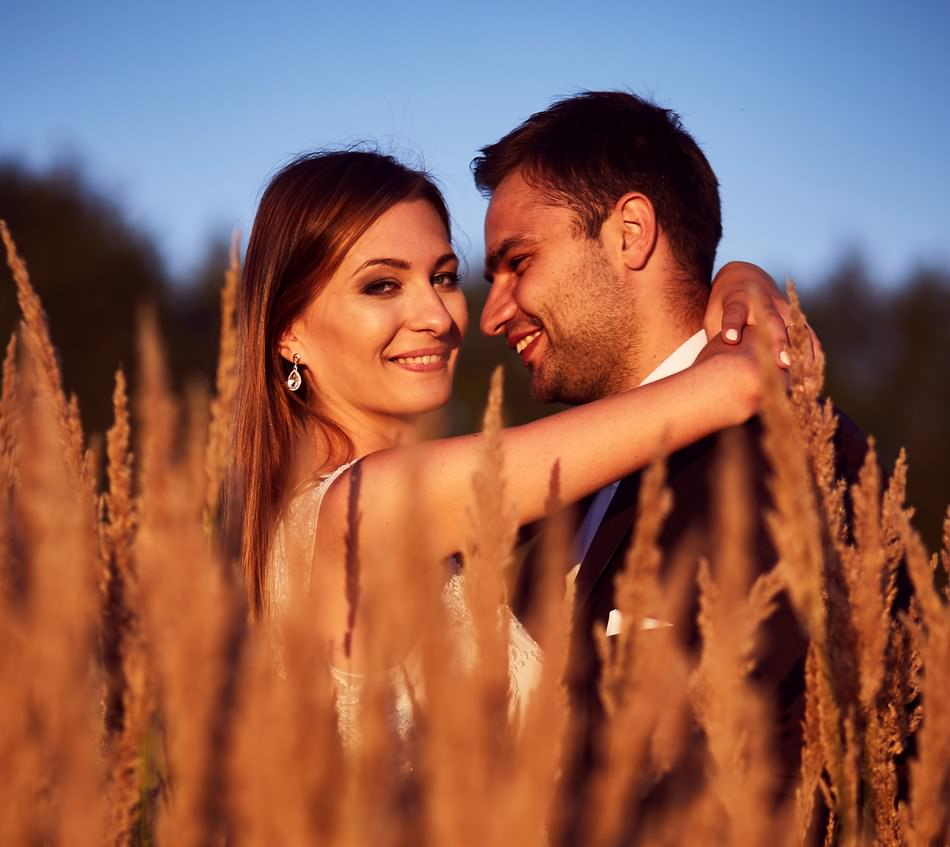 sesja na lace fotograf ślubny Sanok zdjęcia