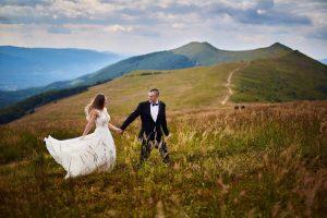 sesja ślubna w górach bieszczadzkich